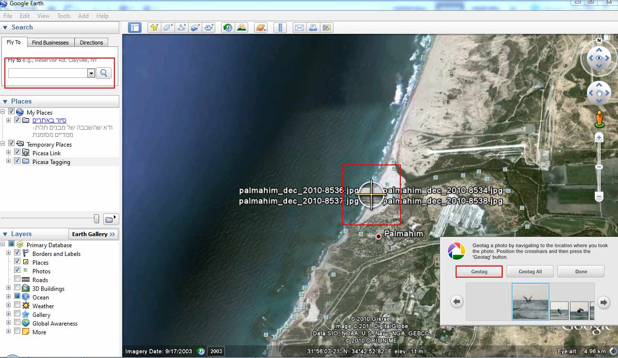 how to add geotagged photos to google maps